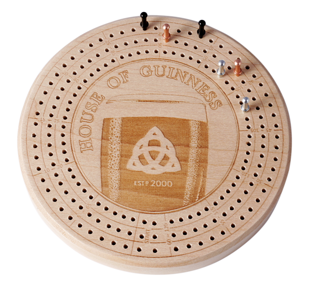 House of Guinness Cribbage Board